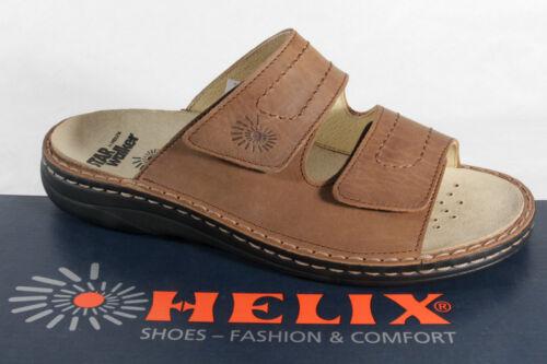 Helix Pantolette Pantoletten Clogs  braun Leder für Einlagen geeignet  NEU!
