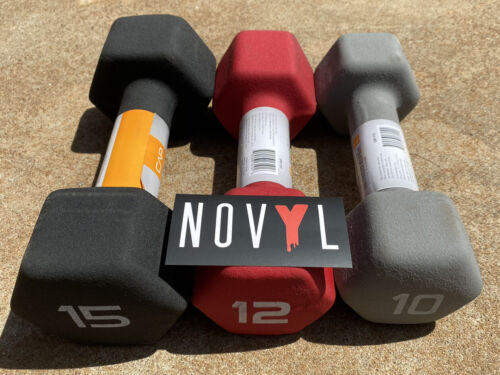 CAP Neoprene Hex Dumbbells 8 10 Choose Weight 12 /& 15 lb Pairs