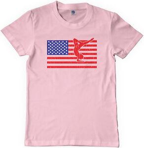 4149da5d68148 Threadrock Kids American Flag Gymnast Youth T-shirt USA Gymnastics ...