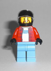 LEGO-Speed-Champions-Ford-Hot-Rod-Driver-Figur-Minifig-Auto-Rennfahrer-75875