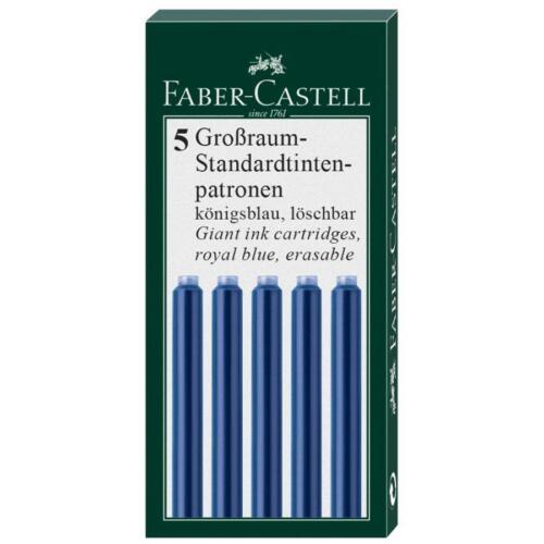 FABER-CASTELL Tintenpatronen schwarz Formatauswahl königsblau