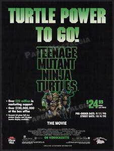 Teenage Mutant Ninja Turtles: The Movie__Orig. 1990 Trade Print AD / Advert_TMNT