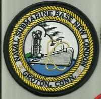 NAVAL SUBMARINE BASE NEW LONDON U.S.NAVY PATCH GROTON CONN SAILOR WARSHIPS  BOAT