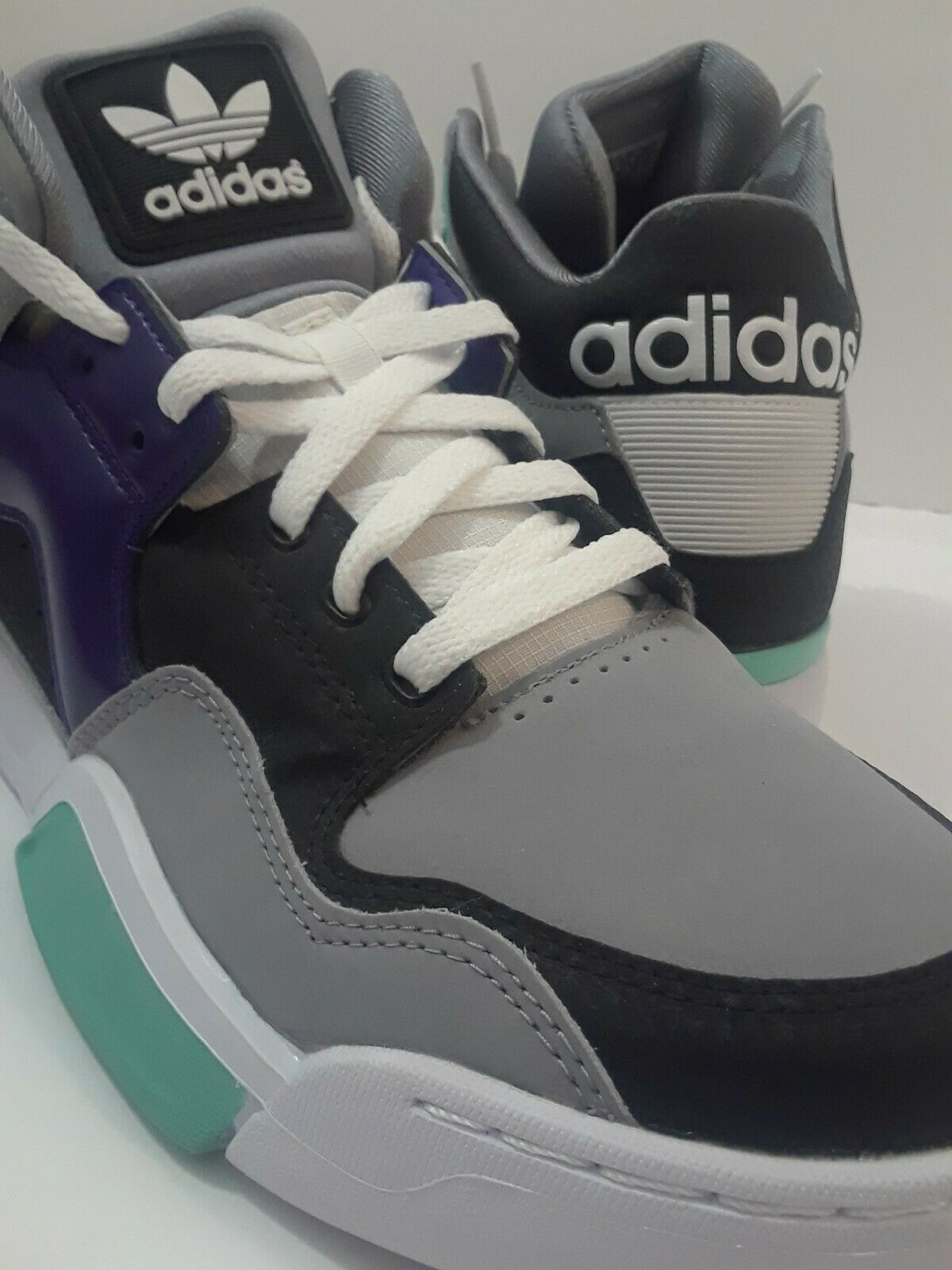 Adidas Chunky Dad shoes Zx Trainer Pro Grape Teal color Block Running Mens Sz 12