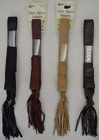 Curtain/chair Tie-backs- 36spread 5 Tassel - Adjustable - Faux Leather