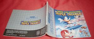 Notice-Game-Gear-Sonic-the-Hedgehog-Triple-Trouble-SANS-JEU-PAL-Sega-JRF