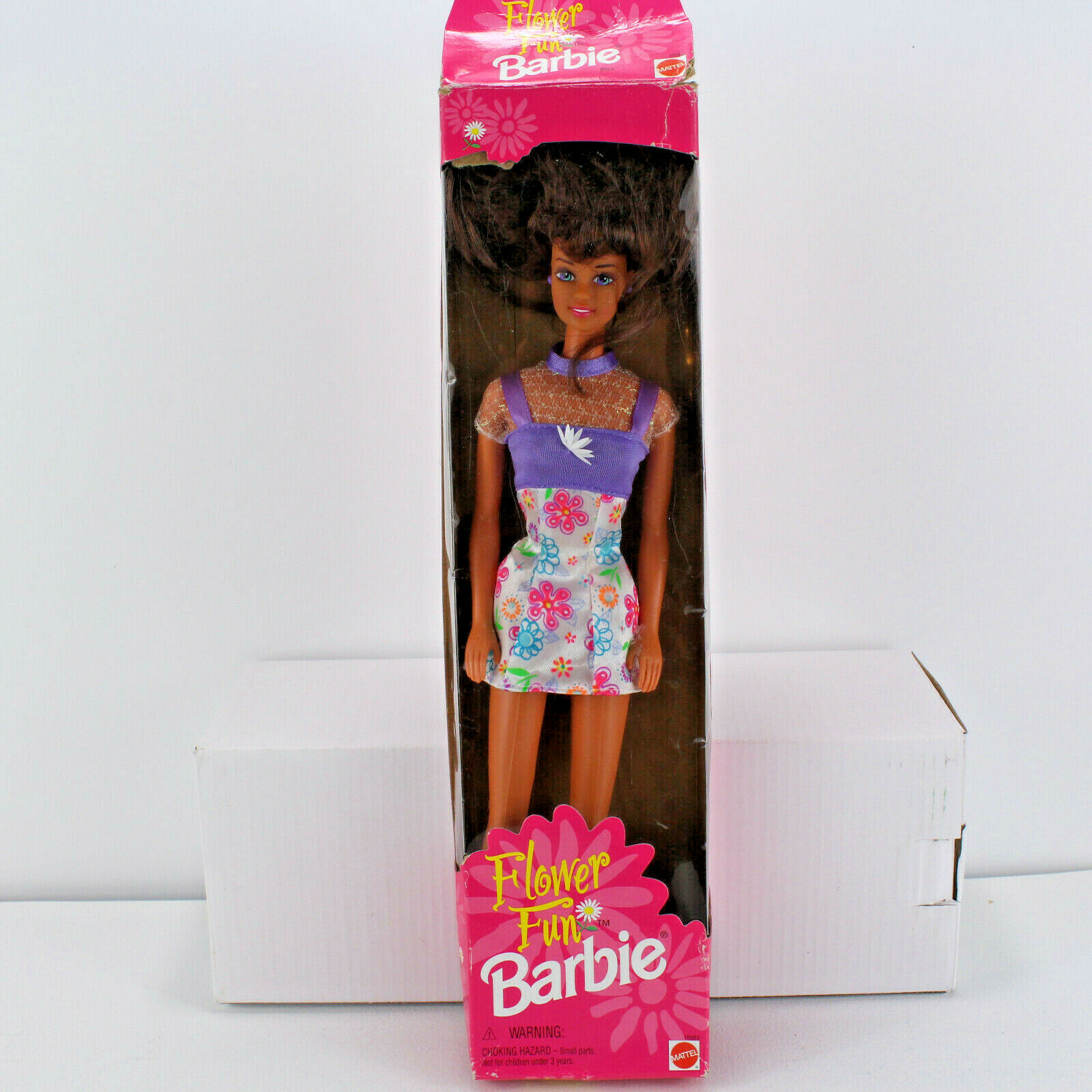 NEW 1996 Mattel Flower Fun African American Brunette Barbie Mint Sealed NRFB NIB