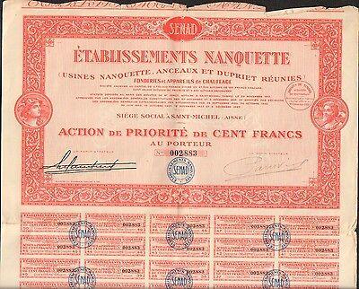 Fonderies /& Appareil de Chauffage Ets NANQUETTE I SAINT-MICHEL AISNE