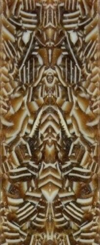 "Cappuccino Acrylic #PR02 2 pc Mini Knife//Razor Scale  1//8/""x3//4/""x3/"""