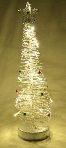 Leuchtender LED Weihnachtsbaum edel aus Metallgeflecht mit 20 LEDs warmweiß