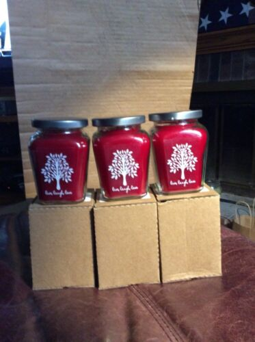 """New Love/"""" 6 7.5oz CELEBRATING HOME Baked Apple Pie Candles: /""""Live Laugh"""