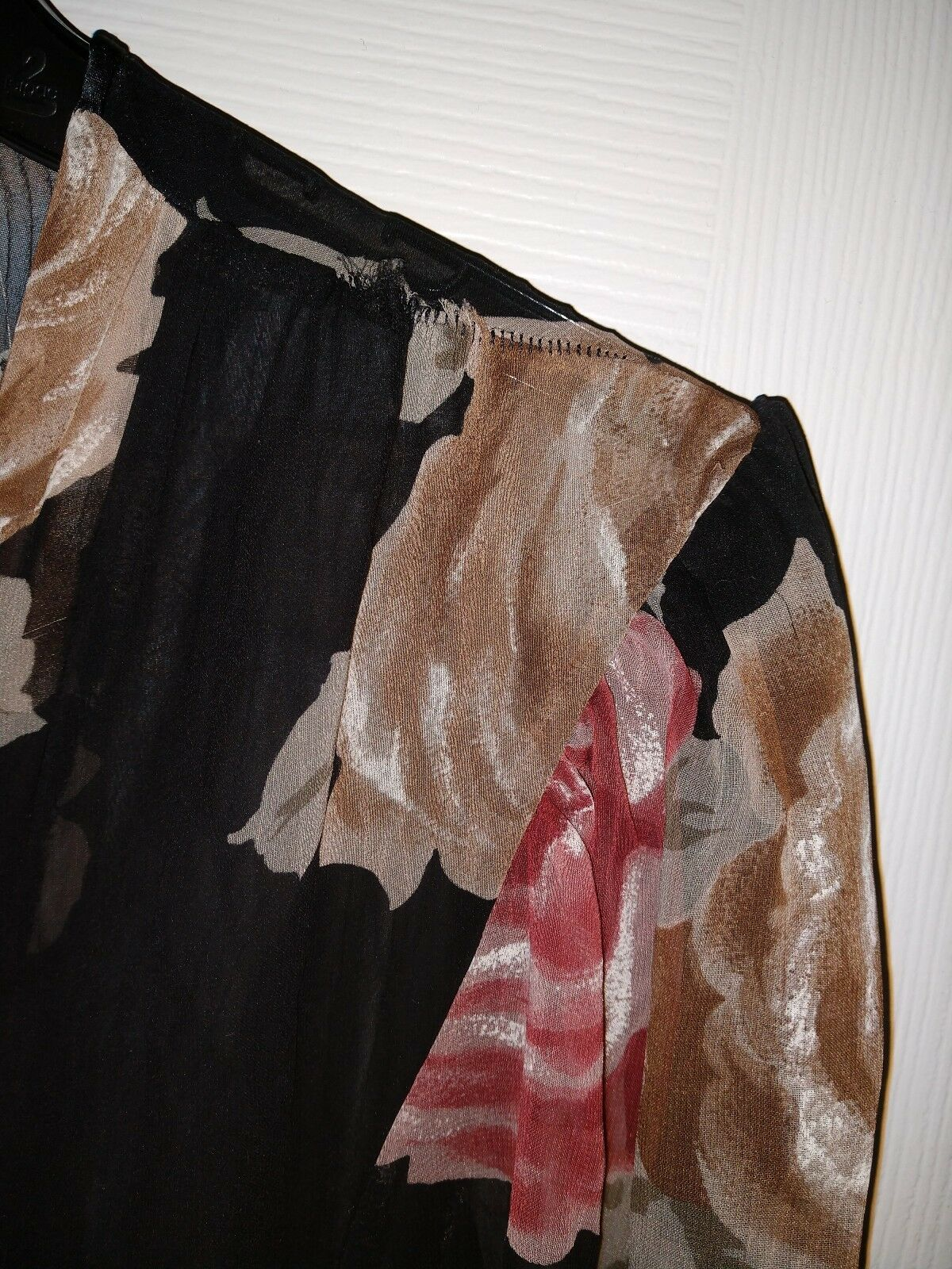 Lucie Ann Vintage Floral Sheer Size Small  - image 12