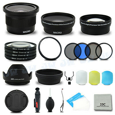 58mm Wide Angle Lens & UV CPL Filters Kit for Canon PowerShot SX50 SX60 SX520 HS