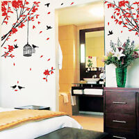 Large Tree Birds Flower Wall Art / Wall Stickers / Wall Decals / Wall Murals