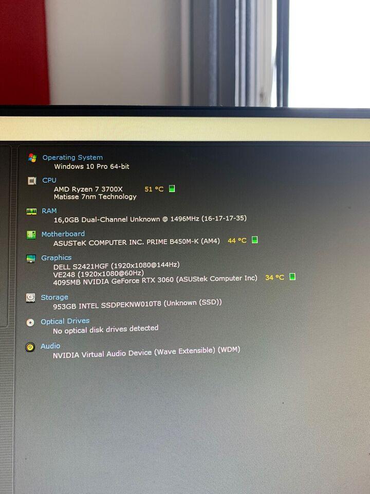 Andet mærke, AMD Ryzen 7 3700x, RTX 3060