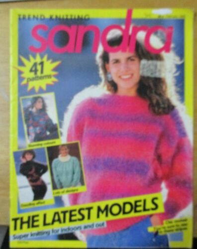 TREND KNITTING SANDRA 41 PATTERNS FEBRUARY 1988