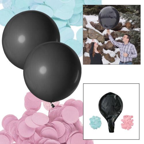 Grande Plaine Ballon Confettis Helium Latex Qualité sexe Revel Baby Shower Party