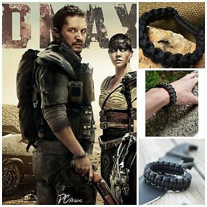 Mad Max Fury Road Adjustable Paracord Survival Bracelet  10-18