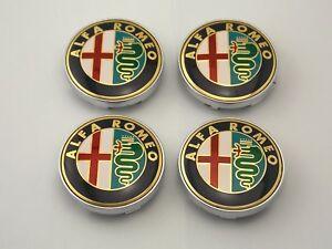 Car-4PCS-Wheel-Center-Hub-ALFA-ROMEO-Caps-Clips-60mm-Emblem-Logo-Badge-r6030