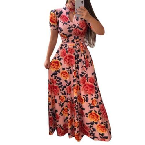 Women/'s Boho Floral Maxi Dress Lady Beach Casual Party Long Sundress Plus Sizes