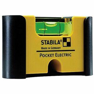STABILA-Wasserwaage-Pocket-Electric-7-cm-Seltenerd-Magnetsystem-Guertel-Halterung