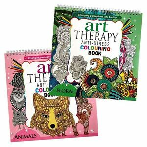 Image Is Loading 2X Adult Art Therapy Anti Stress Colouring Book
