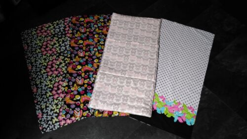 butterfly baby cotton//polycotton with waterproof backing travel changing mat