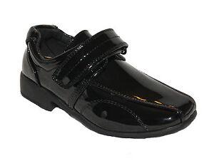 Boys Patent Shoes Wedding Cermony Christening Lace Up UK1 infant UK8 infant