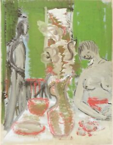 Andre-TELLIER-034-SEDUCTION-034-GOUACHE-vers-1950-60
