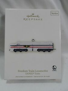 2007-Hallmark-Keepsake-Ornaments-Freedom-Train-Locomotive-Lionel-Trains