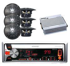 Marine In-Dash CD/MP3 Bluetooth Receiver iPod/USB/MP3 Input 6 Speakers+ 400W Amp