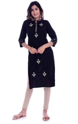 Indian Bollywood Top Stylish Designer Jari Embroidery Women Ethnic Rayon Kurti