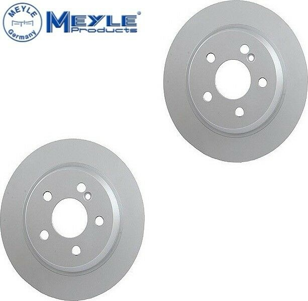 2 Meyle Rear Rotors kit Back Brakes Disc Brake Pad Set For Mercedes C240 C300