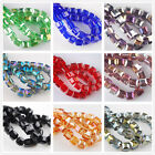 6x6mm 50~100pcs Charms Cube Glass Crystal Bracelet&Necklace Finding Spacer Beads