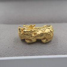 1.6g Pure 999 24k Yellow Gold Bead Men Women Lucky 3D Dragon/'s Head Pendant