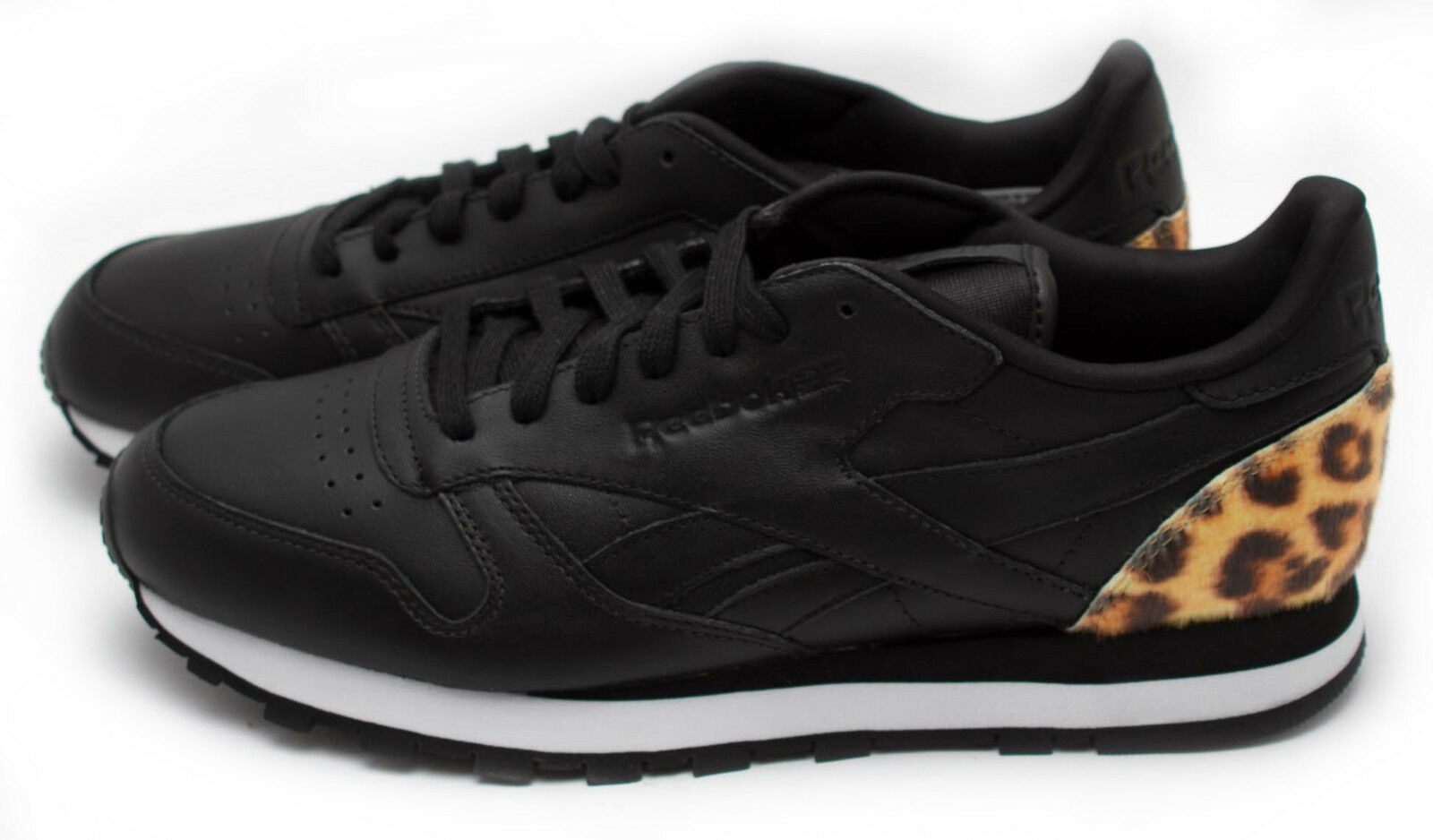 Reebok Classic Leather Beast Black//White//Red V59397 Sz 9-12