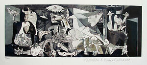 Pablo-Picasso-GUERNICA-Estate-Signed-Stamped-amp-Numbered-Small-Giclee-Art