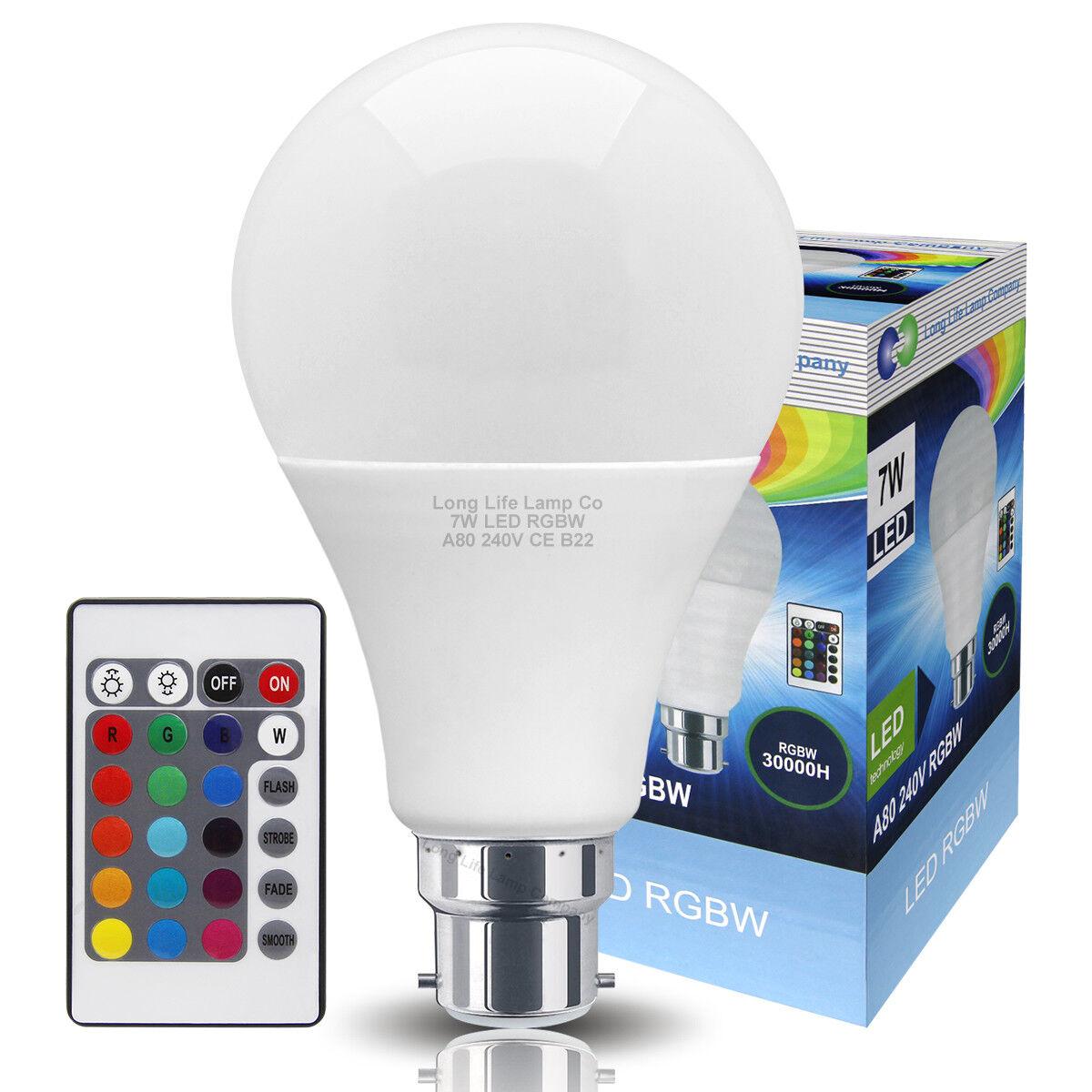 5W GU10 LED Bulbs Light RGB 16 Colour Changing Spotlight Lamp  Remote Control