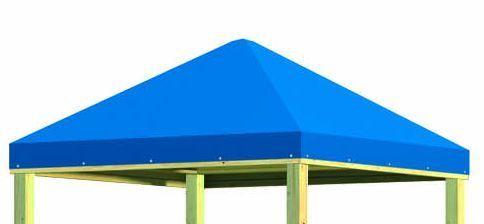 Winnetoo Giga Dach mit Plane für Stelzenhaus Spielturm Kinderspielhaus 1738 Tüv