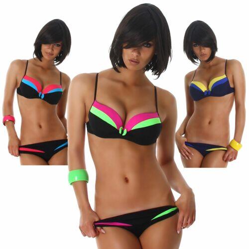 Träger Bikini elegant trendy Strandmode Bademode Beachwear Swimwear Größe neu