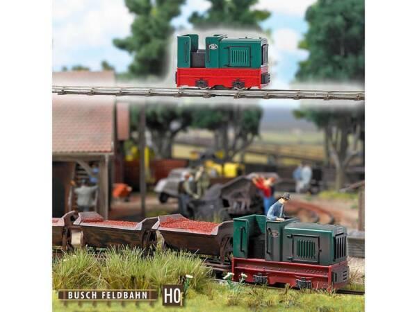 Busch - 12115 Diesel-locomotiva Gmeinder 15/18-ive Gmeinder 15/18 Lucentezza Luminosa