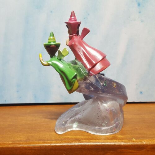 """Details about  /Disney Cinderella/'s figure 3 red blue green fairy godmothers 3.5/"""" on silver wave"""