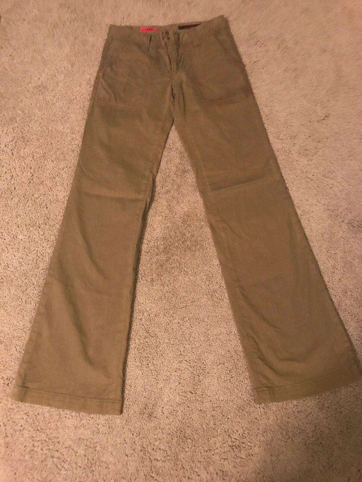 Size 27 AG ADRIANO goldSCHMIED The Joy Wide Leg Khaki Green Pants
