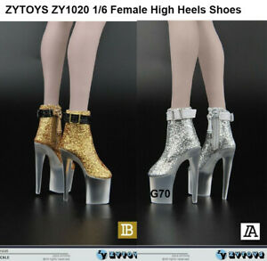 """Black Female Short Boots High-heeled Shoe F 12/"""" PH UD Body 1//6th Shoes ZYTOYS"""