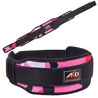 Ard Champs™ Neoprene Weight Lifting Belt Back Support Belt 5 Wide Pink Camo