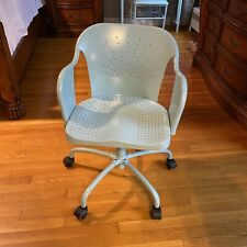 Teal Metal Height Adjustable Chairs Office Desk Chairs Conference Chairs