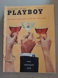 Vintage Playboy Magazine 1959 Sixth Anniversary December Issue