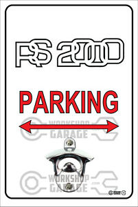 Pop-A-Top-Wall-Mount-Bottle-Opener-Metal-Sign-FORD-RS2000-Logo