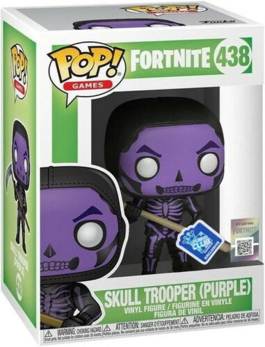 Fortnite-SKULL Trooper 438 Funko Club Exclusive-Funko Pop! VINILE Purple