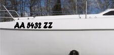 2 x Boat Registration Number Approved Any State hull yacht vinyl Sticker Decal